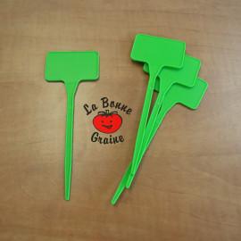 Etiquettes à planter (vertes) : lot de 5